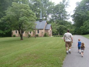 Commemoratory chapel not far from the log cabin where the Cumberland Presbyterian Church was founded.