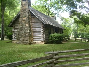 Replica of Log Cabin Where Church was Founded, 1810